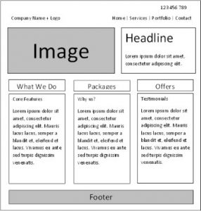 opalwebdesign wireframe