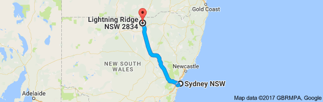 sydney to lightning ridge